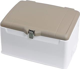 旭風防 リアボックス 集配用キャリー ふた塗装付き 110-148L 大容量収納 ふたマットフレスコブラウン近似色/本体白 AB-5BR