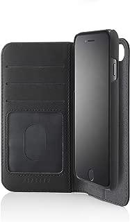 PIPETTO iPhone 6/7/8 Plus 2-in-1 Leather Magnetic Folio Case - Black