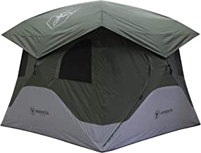 Gazelle GT400GR T4 Extra Large Family 4 Person Capacity Portable Instant Pop Up Outdoor Shelter Camping Hub Tent with 2 Do...