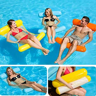 Bestmaple Water Hammock Recliner Inflatable Floating Swimming Mattress Sea Swimming Ring Pool Party Toy Lounge Bed for Swi...