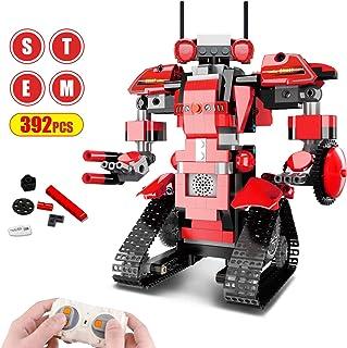 Bloques de Construcción RC Robot, Control Remoto STEM Robot Toy Kit de Robótica de Educativo DIY Robots Electrónicos Inteligentes RC Recargables Regalo Significativo para Niños Niñas ( 392 Piezas)