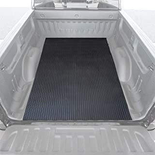 BDK M330 Black Heavy-Duty Truck Utility Bed Mat – Extra-Thick 4' x 8' Rubber Cargo Liner, Durable All-Weather Protection, Trim-To-Fit Design