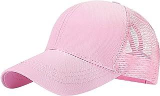 Tuopuda Casquette de Baseball Femme Chapeau de Queue de Cheval Réglable Demi-Maille Casquettes de Sport Outdoor