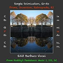 Simple Solmization, Eb-do Prime, Inversion, Retrograde, RI