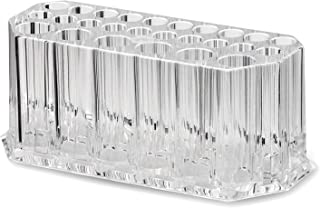 Acrylic Makeup Beauty Brush Organizer | 26 Space Cosmetic Storage (CLEAR)