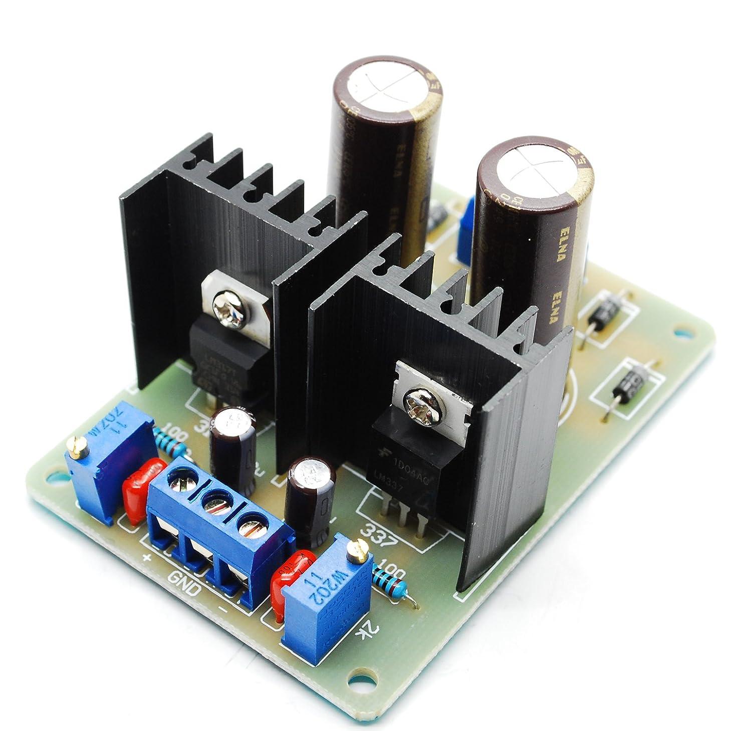 最初はクリスチャン損なうNewone LM317 LM337 正負電源モジュール調整モジュール 入力1.5V-18 VAC 出力2V-25 VDC調節可能