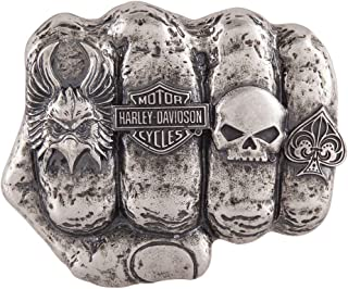 Men's Fist Forward Belt Buckle, Antique Nickel Finish HDMBU11417