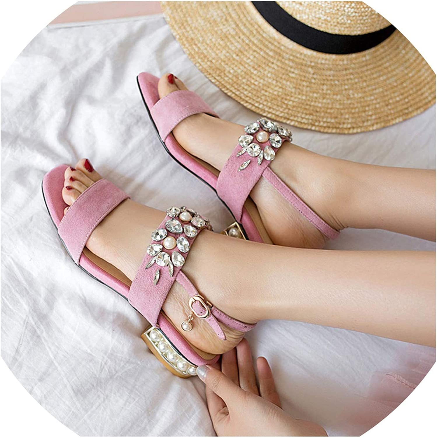 Women Sandals Suede Leather Sandals Women Casual Summer shoes