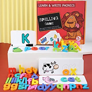 Montessori Wooden Colorful Puzzle Alphabet Letters Cards Early Educational Toy Set with Pen compatible for Kids Gift YUG