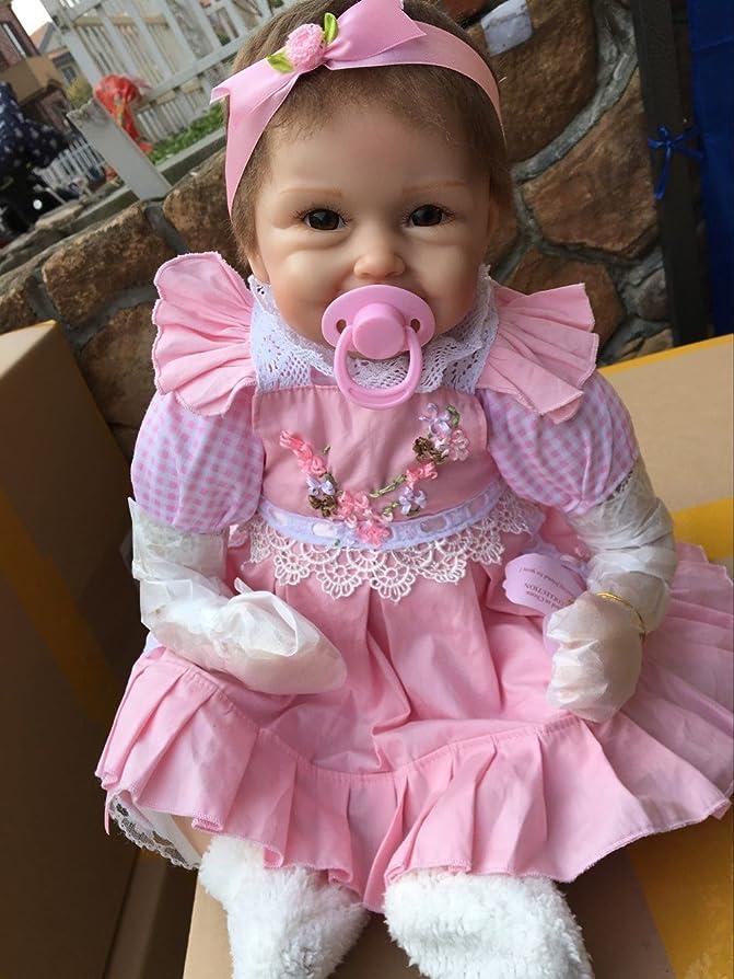傭兵自信がある証書22 Inch 55cm Simulation Soft Silicone Vinyl Lifelike Reborn Baby Girl Doll Realistic Looking Newborn Dolls Toddler