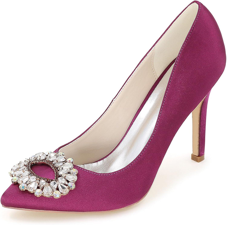 Fanciest Women's Pointed Toe Pumps Heels Sandals Crystal Wedding Bridal shoes 0608-28