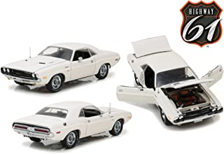 Greenlight HWY-18008 Highway 61- 1970 Dodge Challenger R/T White 1/18 Scale Diecast Model