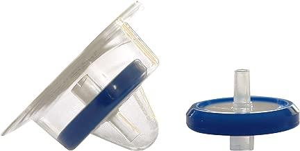 Simsii Syringe Filter, Nylon,Sterile, Diameter 25mm, Pore Size 0.22 Micron,Disc Shape Blue Corded,PP Housing,Luer Lock,Pack of 50,