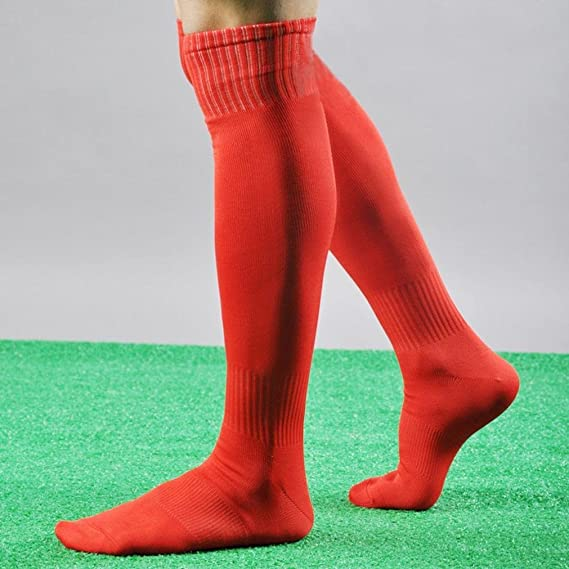 New Mens Ladies Football Socks Soccer Hockey Rugby Sports Plain Long Socks