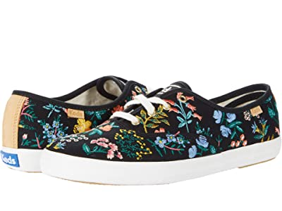 Keds Champion Wildflower Embroidered (Black Embroidered Canvas) Women