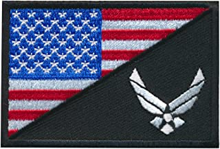 Patch Squad Men's Tactical USA Flag / USA Air force Logo Embroidered Patch