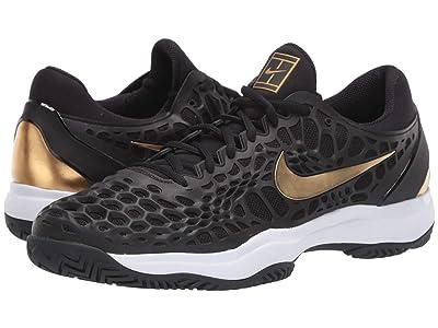 Nike Air Zoom Cage 3 HC (Black/Metallic Gold/White) Men