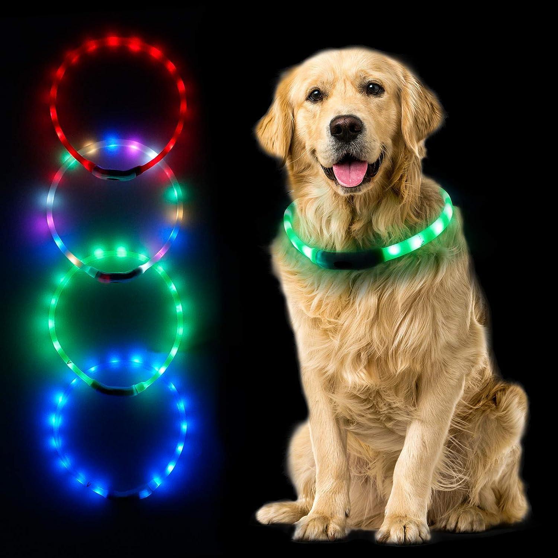 Rapid Max 50% OFF rise MUMUPET LED Dog Collar 4 Light Colors Up USB