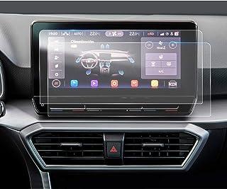 LFOTPP Protector de pantalla transparente para Seat Leon MK4 de 10 pulgadas, para navegador GPS, PET, 2 unidades