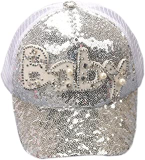 Gorra de béisbol de Las Lentejuelas del bebé Niños niñas, Sombrero Ajustable del Hip-Hop de Snapback