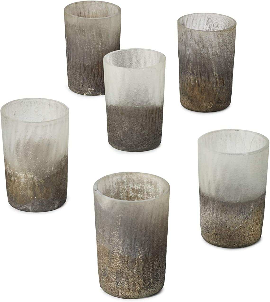 Serene Spaces Living Set Max 54% OFF 70% OFF Outlet of 6 Frost Ombre Gold Ca Votive Glitter