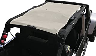 ALIEN SUNSHADE Jeep Wrangler Mesh Shade Top Cover with 10 Year Warranty Provides UV Protection for Your 4-Door JKU (2007-2017) (Sand)