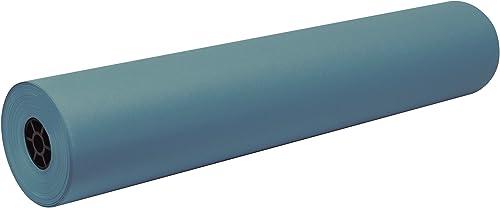 DecGoldl Flammenhemmende Kunst-Rolle, 91,4 x 1,000 m, 1 Rolle himmelblau