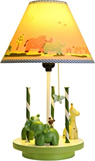 Dimmable Night Lights for Kids,Revolved Animal Field Table Lamp Handmade Nightstand Lamps Imagination Inspiring with Fabric Odorless Noiseless Lampshade for Children Bedroom,Sturdy,Nursery Room