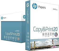 HP Printer Paper, Copy and Print20, 8.5 x 11 Paper, Letter Size, 20lb Paper, 92 Bright, 2,400 Sheets / 6 Ream Carton (200010C) Acid Free Paper