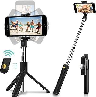 Salandens Palo Selfie Trípode,Selfie Stick Trípode Inalámbrico con Control Remoto,360°Rotación Extensible Selfie Stick par...