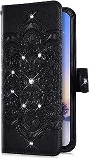 Uposao Kompatibel mit Samsung Galaxy Note 8 Handyh/ülle Schmetterling Liebe Blumen Muster Diamant Bling Glitzer Strass Schutzh/ülle Flip Case Handytasche Wallet H/ülle Bookstyle Klapph/ülle,Gold