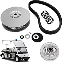 Topauto Gas Golf Cart Secondary Driven Clutch Heavy Duty Driven Clutch Kit with Belt for 1985-1992 Yamaha Gas Golf Cart Models G2-G22