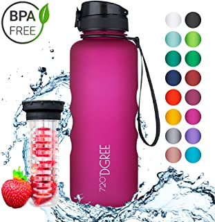 720°DGREE Leakproof Tritan Water Bottle uberBottle - 50 oz, 1.5 Liter | Ideal for School, Fitness, Outdoor, Sport, Bike, Kids, Camping | with Fruit Filter - BPA Free