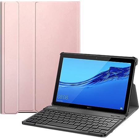 Fintie Funda con Teclado Español Ñ para Huawei Mediapad T5 10 - Carcasa SlimShell con Soporte y Teclado Español Bluetooth Inalámbrico Magnético ...