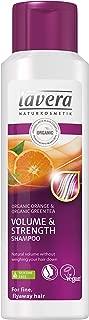 Lavera Haar Shampoo Volumen und Kraft, Bio-Orange, für feines, fliegendes Haar , vegan, Biohaarpflege, Naturkosmetik, 250 ml