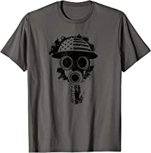 American Flag Vintage WWI Army Gas Mask Military T-Shirt