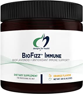 Designs for Health BioFizz Immune Powder - Vitamin C Drink Mix Supplement with Bioflavonoids, Zinc, 2000 IU Vitamin D + E ...