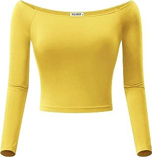 Best yellow shoulder top Reviews