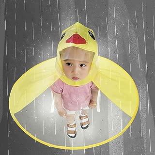 Iusun Raincoat, Foldable UFO Umbrella Cap, Rain Coat UFO Children Umbrella Hat Magical Hands Free Raincoat for Kids Boys Girls