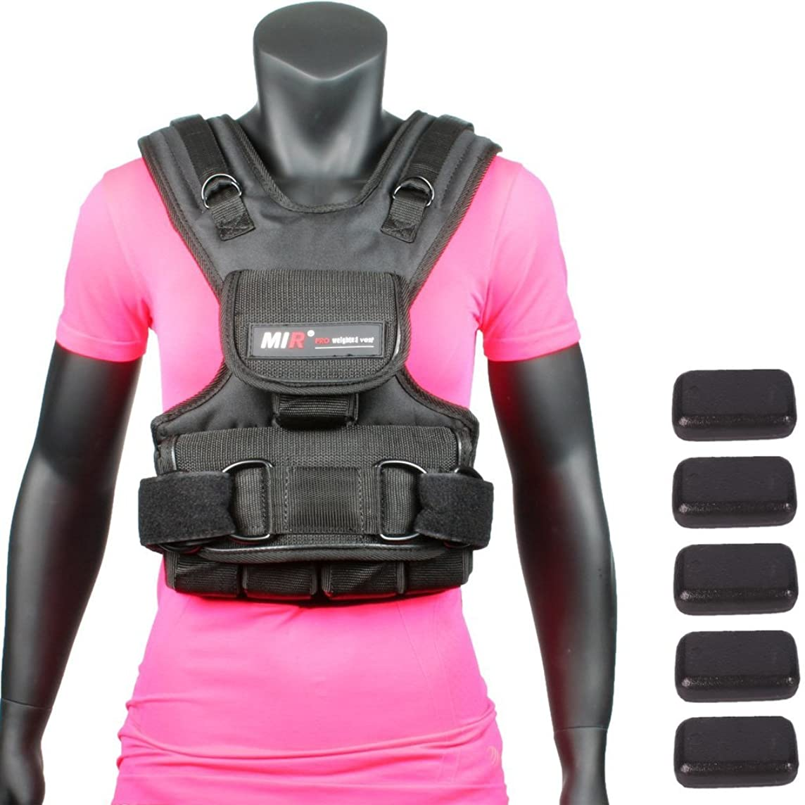 Mir Womens Adjustable Weighted Vest (10lbs - 50lbs)