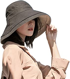 Double-sided Women's Sunshade Hat To Shield From Ultraviolet Sunshine Wide-brimmed Summer Girls Beach Hat Foldable Outdoor...