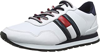 Tommy Hilfiger Leather Lifestyle Men Sneakers, White (White)