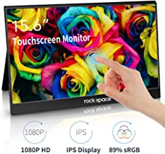 Touch Screen Monitor- 15.6'' Portable Display, 1080P HD IPS Panel with 10 Point Capacitive Control, Compatible with USB C & HDMI Devices, for Switch, Xbox,PS3/4, Windows 7/8/10, Mac