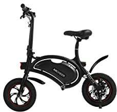 ANCHEER 2019 Folding Electric Bicycle, Waterproof E-Bike, Electric Bike with 12 inch Wheels, 350W Hub Motor Dual Disc Brake