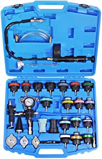 YSTOOL Radiator Pressure Tester Pneumatic Vacuum Cooling System Purge Refill Kit 28PCS Universal Automotive Water Tank Lea...