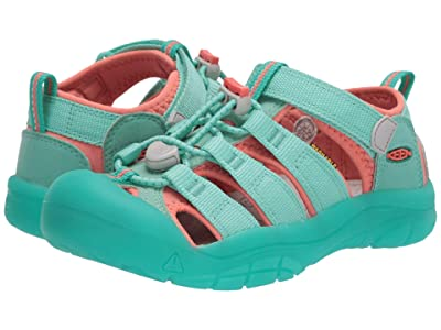 Keen Kids Newport H2 (Little Kid/Big Kid) (Cockatoo/Coral) Girls Shoes
