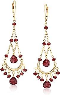 Ross-Simons 22.00 ct. t.w. Garnet Chandelier Earrings in 14kt Yellow Gold For Women