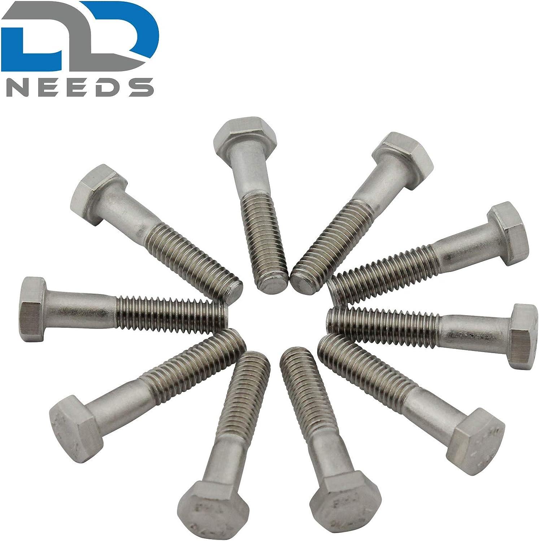 Sechskantschrauben mit Schaft VPE: 4 St/ück D2D DIN 931 // ISO 4014 M8x65 Maschinenschrauben aus rostfreiem Edelstahl A2 V2A