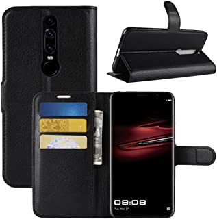 Huawei Mate RS Case, Fettion Premium PU Leather Wallet Flip Phone Protective Case Cover with Card Slots and Magnetic Closure for Huawei Mate RS Porsche Design Smartphone (Black)