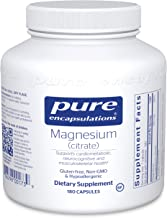 Pure Encapsulations Magnesium (Citrate) | Supplement for Constipation, Stress Relief, Sleep, Heart Health, Nerves, Muscles, and Metabolism* | 180 Capsules
